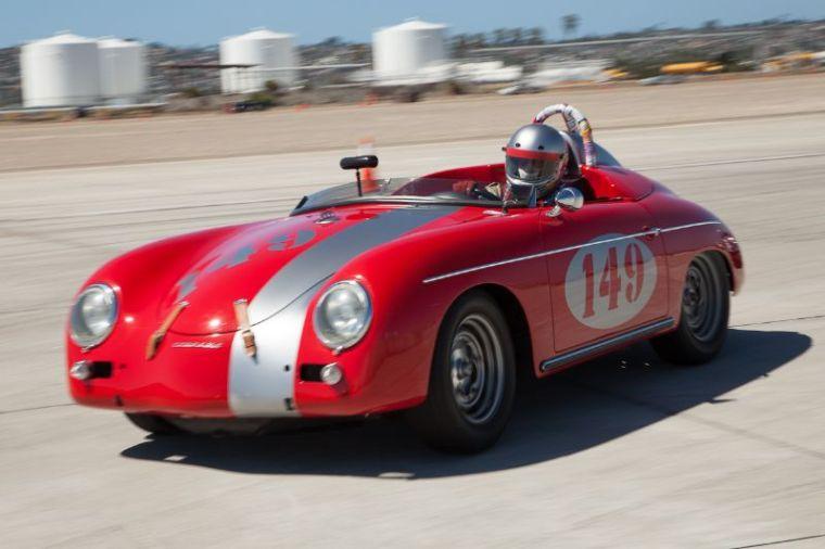 Leonard Tumbeaugh and his 1958 Porsche 356A.