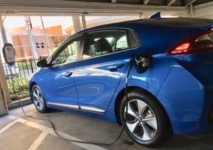Hyundai Ioniq charging