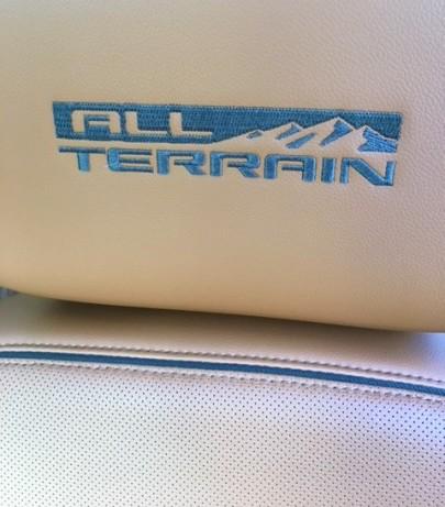 GMC Acadia all terrain seat detail