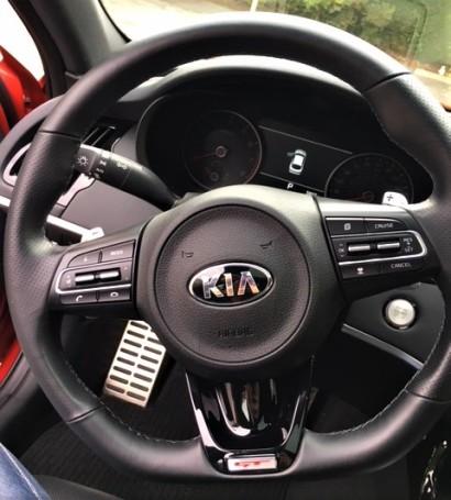 Stinger steering wheel