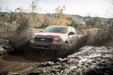 Mud ruts offroad